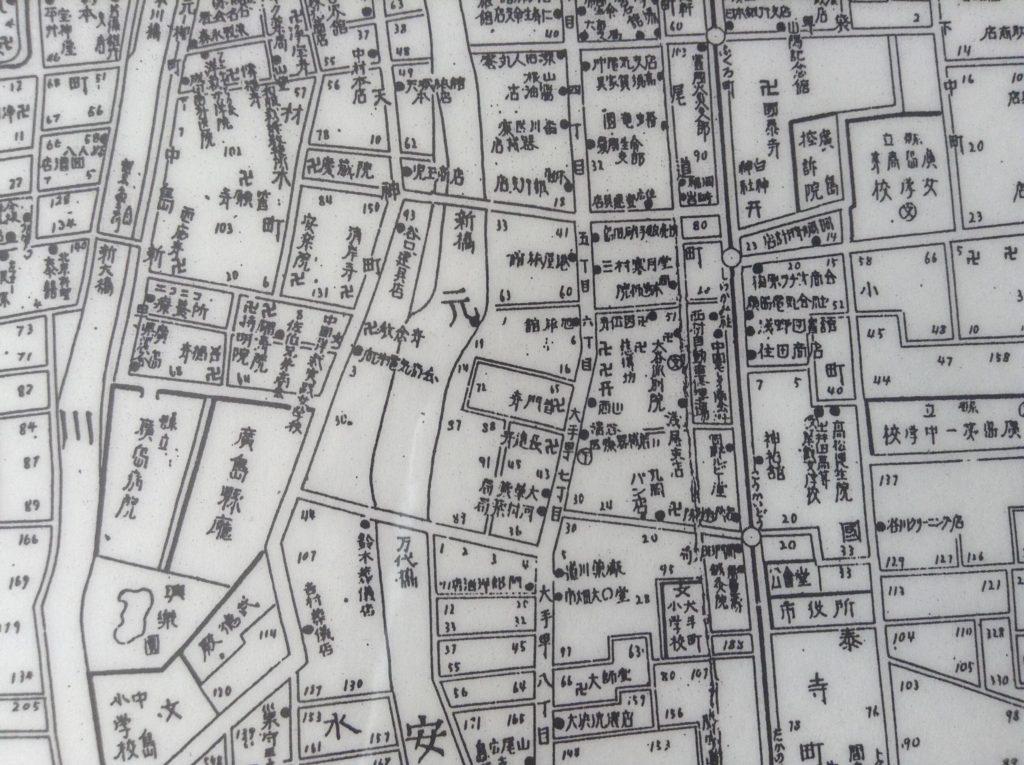 被爆前の広島市街図